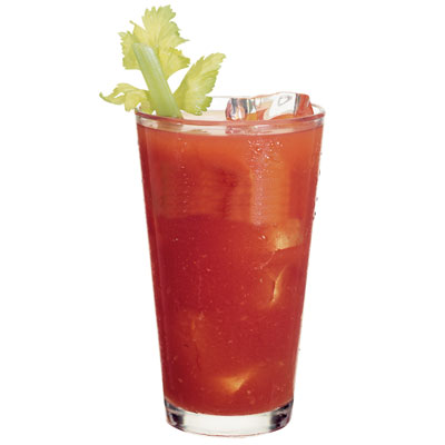 Drink With Tomato Juice And Celery